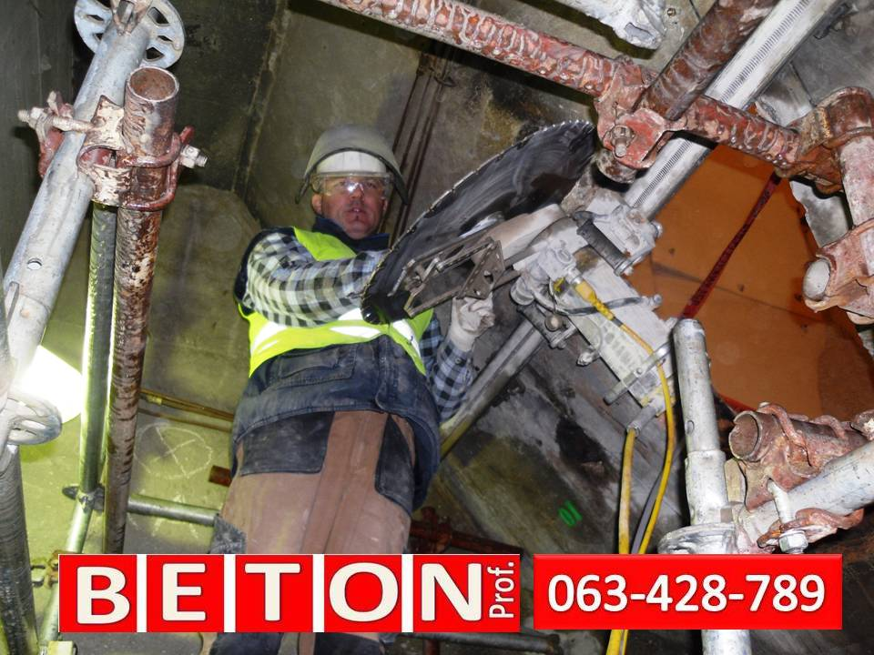 Sečenje betona Beton Prof