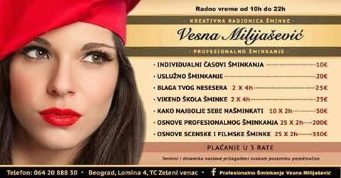 Kreativna radionica šminke Vesna Milijašević